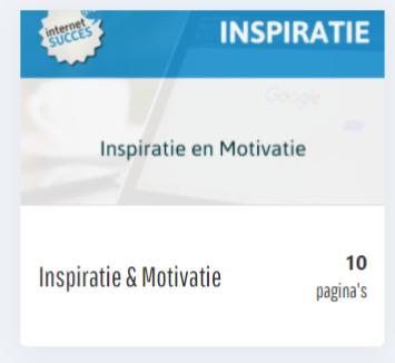 inspiratie motivatie mindset module