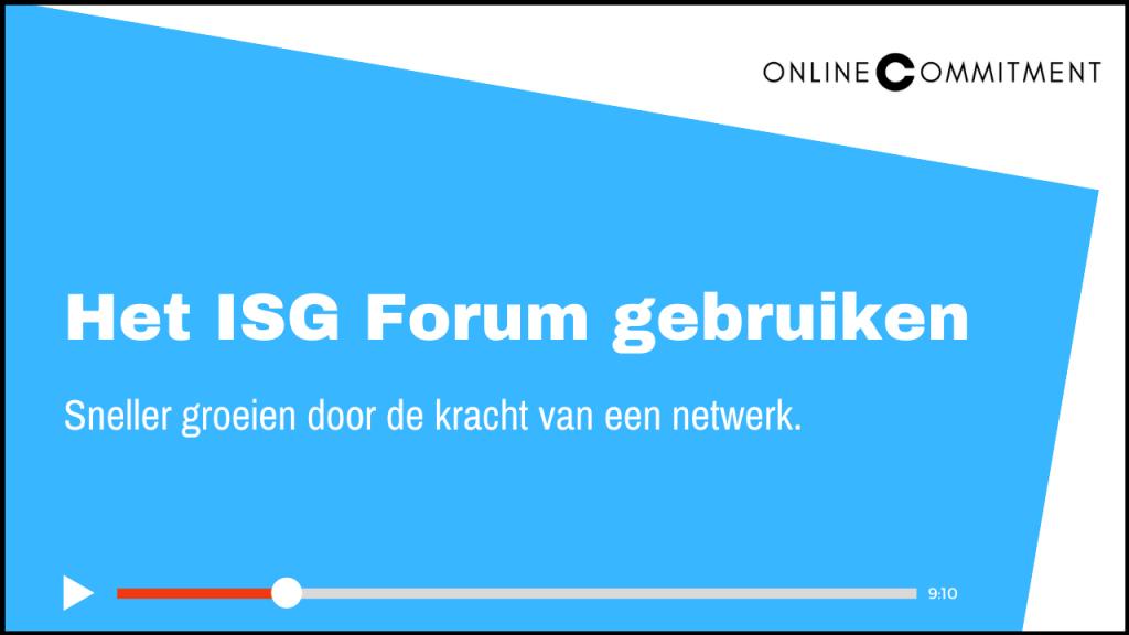 internetsuccesgids forum gebruiken