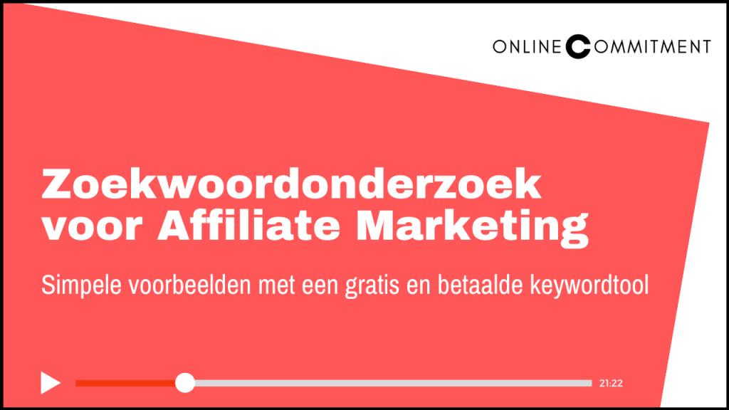 zoekwoordonderzoek affiliate marketing