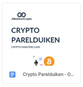 crypto portfolio onderzoeksdocument