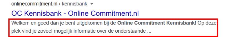 meta beschrijving online commitment