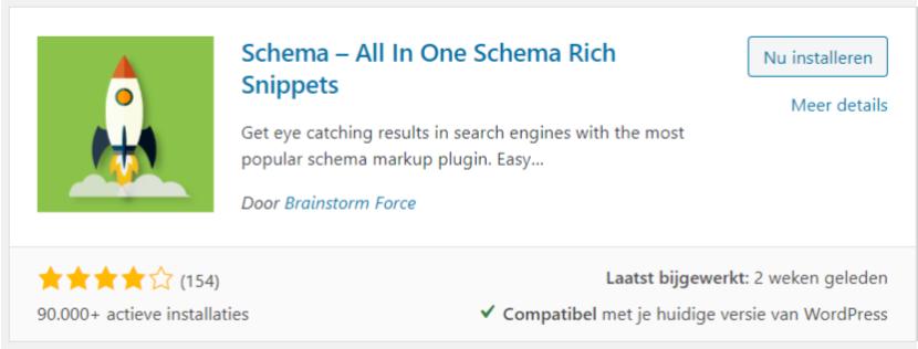 schema rich snippet plugin
