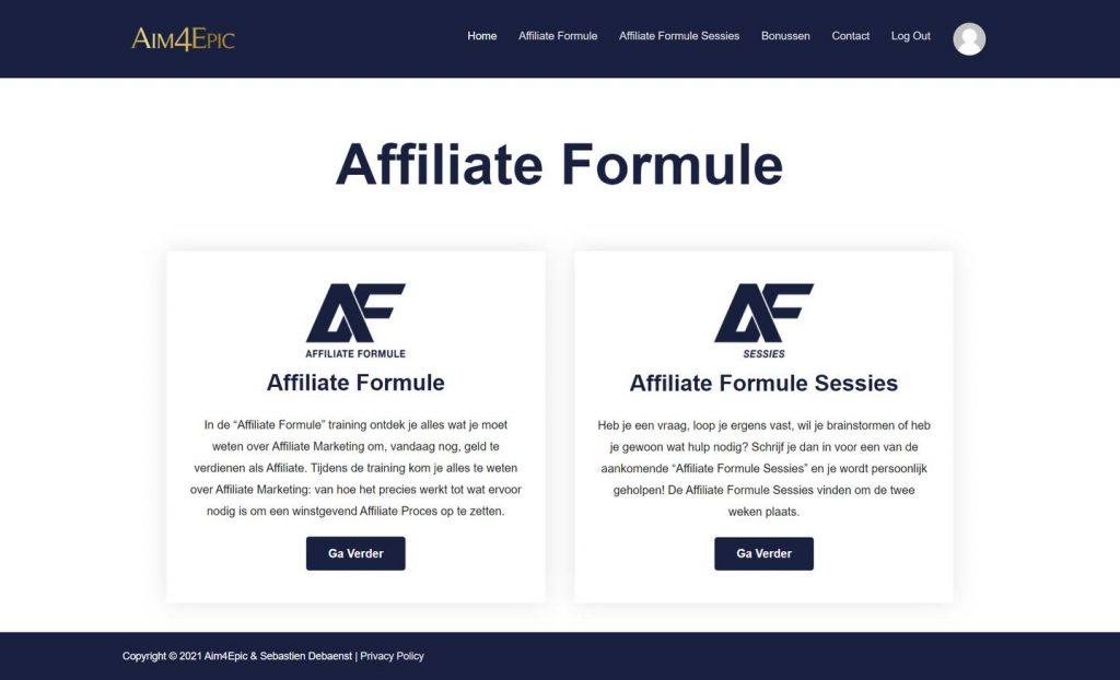 overzichtelijke ledenomgeving affiliate formule